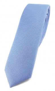 Modische schmale TigerTie Designer Krawatte in hellblau fein gepunktet