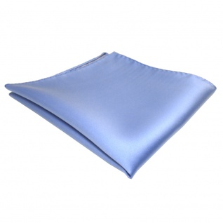 TigerTie Einstecktuch blau hellblau einfarbig - Tuch Polyester
