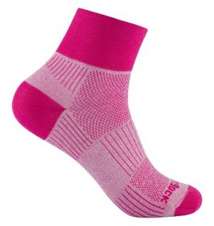 WRIGHTSOCK Profi Sportsocke Coolmesh II pink anti-blasen -mittellang Gr.S