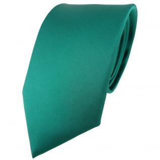 TigerTie Satin Seidenkrawatte in grün einfarbig Uni - Krawatte 100% Seide