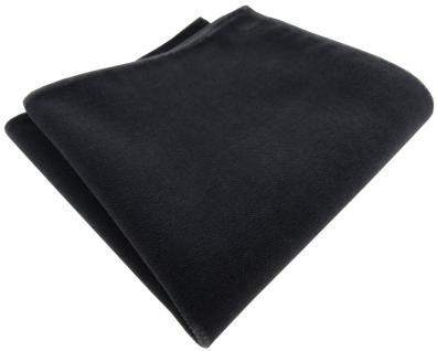 TigerTie Baumwollsamt Designer Einstecktuch in dunkelgrau anthrazit einfarbig Uni