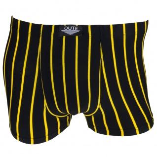 Boxershorts Unterhose Pants Retro Shorts schwarz-gelb Baumwolle Gr. XXL