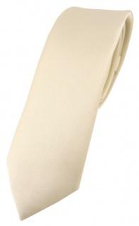 schmale TigerTie Designer Krawatte in beige einfarbig Uni - Tie Schlips