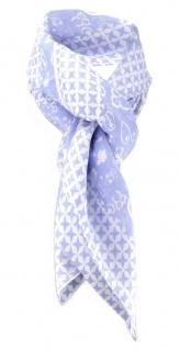 Halstuch himmelblau grau mit vielen kleinen Motiven und Sternen - Gr. 100x100 cm