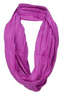 TigerTie Loop Schal in magenta violett einfarbig Uni - Schlauchschal Rundschal