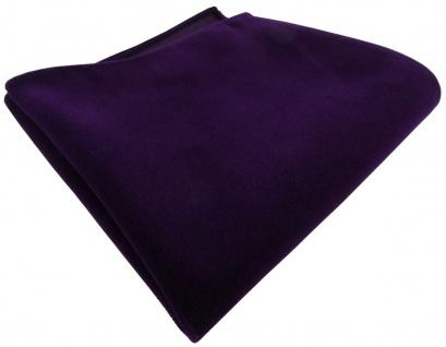 TigerTie Baumwollsamt Designer Einstecktuch in dunkellila einfarbig Uni