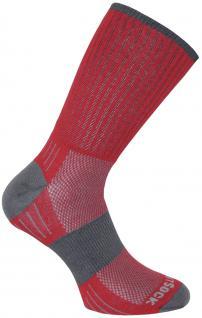 WRIGHTSOCK Laufsocke Wandersocke -anti-blasen-system- lange rote Socken Gr.L