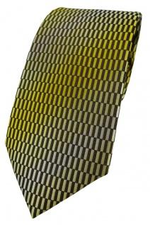 TigerTie Designer Krawatte in gelb gold schwarz silber gemustert