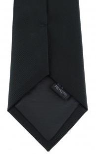 XXL TigerTie Security Sicherheits Krawatte in schwarz einfarbig Uni - Vorschau 4