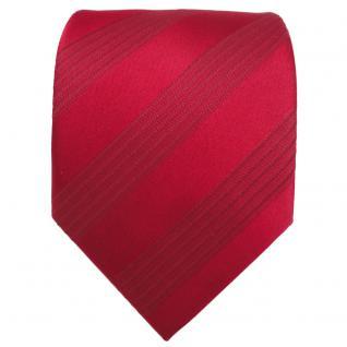 Designer Seidenkrawatte rot karminrot gestreift - Krawatte Seide Silk - Vorschau 2
