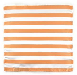 TigerTie Einstecktuch in apricot weiss gestreift - Stecktuchgröße 30 x 30 cm - Vorschau 2
