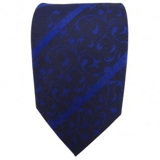 TigerTie Designer Krawatte blau dunkelblau schwarz gestreift - Schlips Tie - Vorschau 2