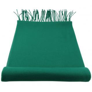 Feiner TigerTie Designer Schal in grün dunkelgrün laubgrün Uni - Cashmink