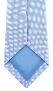 schmale TigerTie Designer Krawatte Pique hellblau-weiss gemustert - Baumwolle - Vorschau 4
