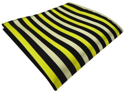 TigerTie Einstecktuch in gelb schwarz gestreift - Tuch Polyester Gr. 25 x 25 cm