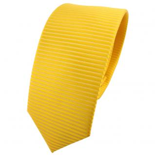 schmale TigerTie Designer Krawatte gelb goldgelb sonnengelb uni-gemustert