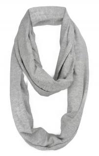TigerTie Loop Schal Halstuch grau einfarbig - Größe 180 x 45 cm - 100% Baumwolle