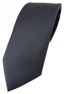 TigerTie Designer Krawatte in anthrazit einfarbig Uni - Tie Schlips