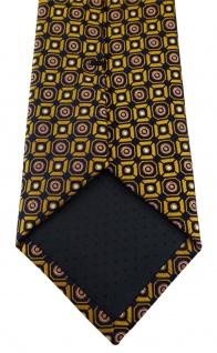TigerTie Designer Krawatte in gold rosa silber schwarz gemustert - Vorschau 5