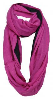 TigerTie Loop Wendeschal pink Uni - schwarz Uni - Gr. 150 x 50 cm - Rundschal