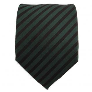 Designer Seidenkrawatte grün dunkelgrün schwarz gestreift - Krawatte Seide Tie - Vorschau 2