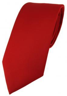 TigerTie Designer Krawatte in verkehrsrot einfarbig Uni - Tie Schlips
