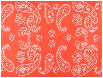 Multifunktionstuch orange weiss gemustert - Schal - Schlauchtuch - Wundertuch