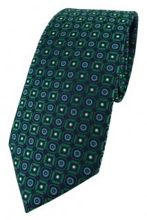 XXL TigerTie Krawatte in grün blau silber schwarz gemustert - 175 x 8, 5 cm