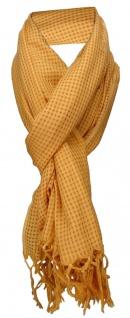 TigerTie Schal in orange gemustert mit kleinen Karos -Baumwolle/Seiden Mischung