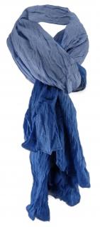 TigerTie gecrashter Schal in royal blau verlauf - Gr. 190 x 100 cm