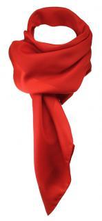 TigerTie Damen Chiffon Halstuch rot verkehrsrot Uni Gr. 80 cm x 80 cm - Schal