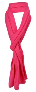 Schal in pink uni einfarbig - Schalgröße 180 x 40 cm