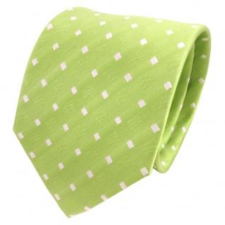 TigerTie Designer Seidenkrawatte grün hellgrün weiß gepunktet - Krawatte Seide - Vorschau 1