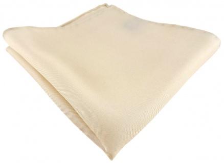 Einstecktuch handrolliert beige einfarbig Uni - 100% Seide - Gr. 30 x 30 cm
