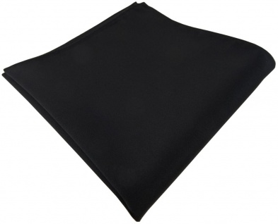 schönes gewebtes Einstecktuch schwarz mit sehr feiner Rippstruktur - Tuch Seide