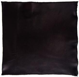 TigerTie Ledereinstecktuch schwarz einfarbig Uni - Einstecktuch 100% Lammnappa - Vorschau 3