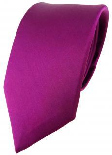 schöne Designer Seidenkrawatte in lila violett magenta Uni - Krawatte 100% Seide