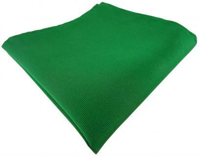 TigerTie Seideneinstecktuch in grün einfarbig rips struktur - 100% Seide