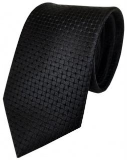 TigerTie Designer Seidenkrawatte schwarz kariert reine Seide / Silk - Krawatte