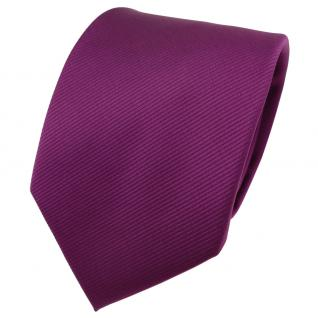TigerTie Designer Krawatte magenta fuchsia violett Uni Rips - Binder Tie