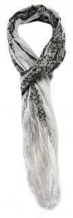 TigerTie Schal in grau weiss gemustert - Gr. 180 x 50 cm