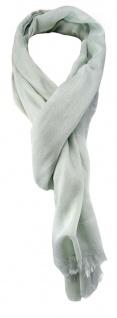 TigerTie Schal in grau einfarbig mit Fransen - Gr. 180 x 70 cm
