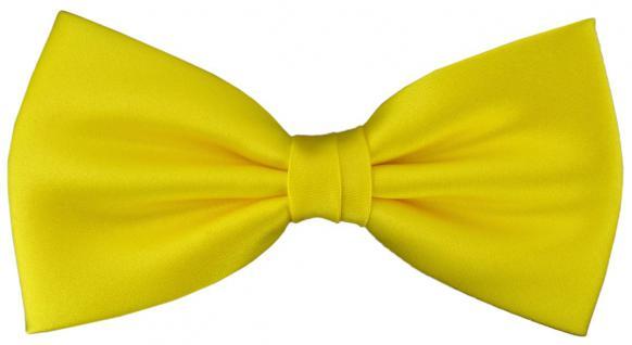 vorgebundene TigerTie Fliege Schleife in gelb Einfarbig Uni + Geschenkbox