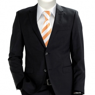 TigerTie Designer Krawatte in apricot weiss gestreift - Vorschau 5