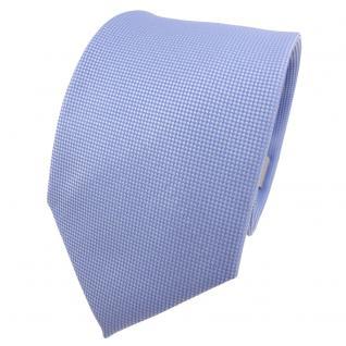 Designer Krawatte blau hellblau himmelblau silber gepunktet - Schlips Binder Tie