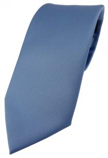 TigerTie Designer Krawatte in pastellblau einfarbig Uni - Tie Schlips