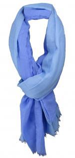 Schal mit Farbverlauf blau hellblau mit einen Stich Türkis - Gr. 200 x 110 cm
