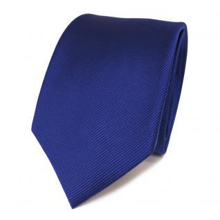 TigerTie Designer Seidenkrawatte blau dunkelblau Rips einfarbig - Krawatte Seide