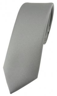 schmale TigerTie Designer Krawatte in grau einfarbig Uni - Tie Schlips