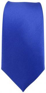 schmale TigerTie Designer Seidenkrawatte in Satin blau - Krawatte 100% Seide - Vorschau 2